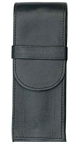 ohne Inhalt Alassio Schreibgeräte Etui für 1 Schreibgerät schwarz Leder
