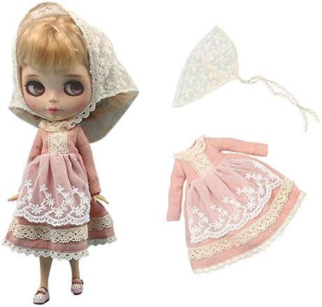 rakulifey 1/6ドール用服 ネオブライス衣装 アウトフィット ドレス 2点セット プレゼント