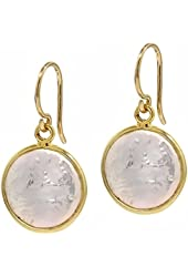 12mm Cultured Freshwater Pearl Gold Plated Silver Frenchwire Dangle Earrings