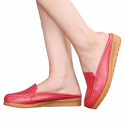 xred YUCH De Plano De Slacker Mujer Talón el Zapatos De Diario Zapatos Para Mujer Zapatillas Ocio xZZqI5r1