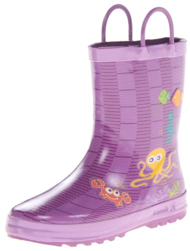 Kamik EK6358 Dewberry Children's Purple Octopus wellies YgqRxvY