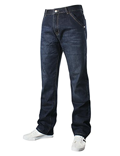 42w Quad - Demon hunter Relaxed Series Men's Loose Fit Relaxed Jeans DH8009-1(42)