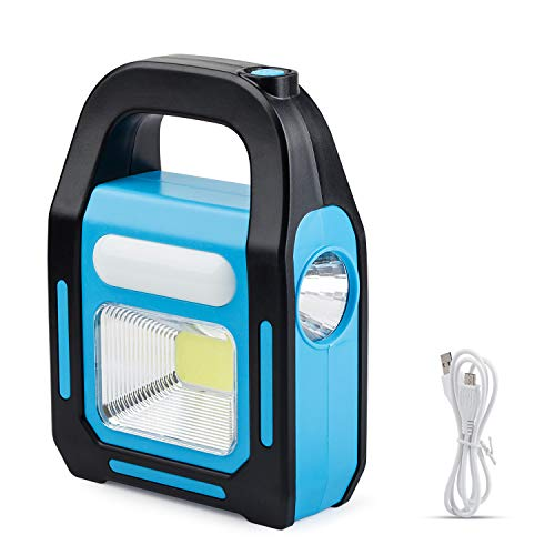 1 Pack 3 IN 1 Solar USB Rechargeable Brightest COB LED Camping Lantern, Charging for Device, Waterproof Emergency Flashlight LED Light