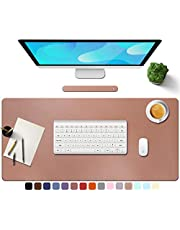 Towwi PU Leather Desk Pad with Suede Base, Multi-Color Non-Slip Mouse Pad