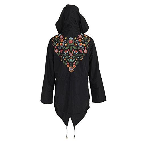 Merri Para La Con Capucha Espalda Brave Modelo Estampado Floral Soul En Caqui Chaqueta Mujer wHqxPXZ