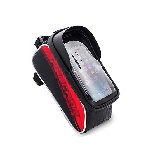 (Cyan mango Bike Rainproof Bag for Front Tube Bag Phone Case)