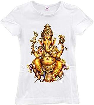 ZCYTIM Verano De 2019 Dios Hindú T Camisa Mujeres Camiseta Manga Corta Cuello En La India Camiseta Ganesha Shiva, El Dios tee Top: Amazon.es: Deportes y aire libre