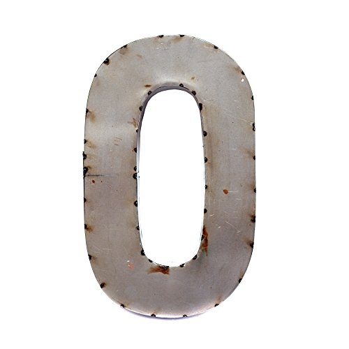 - Rustic Arrow Letter O for Decor, 14-Inch, Silver