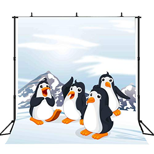 (FLASIY 10x10ft Cute Penguins Photography Backdrop Customized Background Children Baby Room Mural Photo Studio Props LYAY220)
