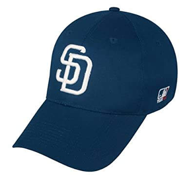 San Diego Padres (Home - White SD) ADULT Adjustable Hat MLB Officially Licensed Major League Baseball Replica Ball Cap by Team MLB