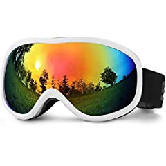 Specification: Eyewear Colors: Bright Black, Bright White Eyewear Type: Professional Skiing Eyewear Lenses Attribute: UV400 Protection, Anti-fog, Anti-reflection, Double layer lens, Mirror Coating  Lens Width: 6.69 IN Lens Height: 3.54 IN Wei...