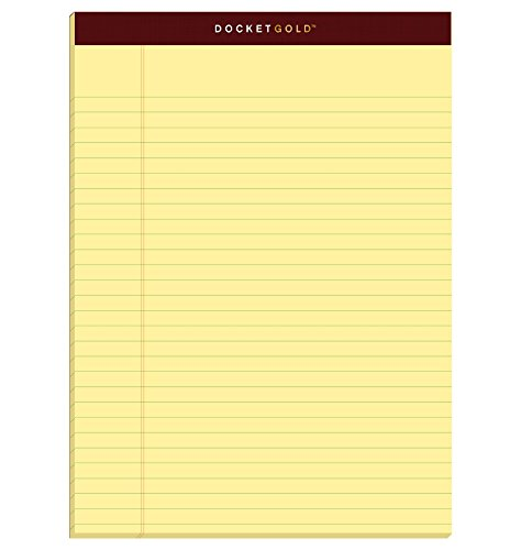 (TOPS Docket Gold Writing Pads, 8-1/2