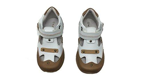 Chaussure Marron Avec made fermeture lelo In Et Cuir Marron garçon Facile semelle Caoutchouc Lea En Blanc couleur Matière Spain FqwCRO5