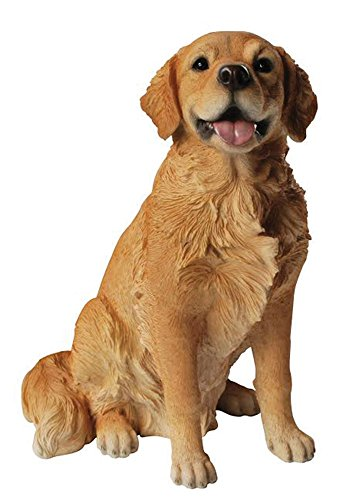 Golden Statue - Hi-Line Gift Ltd Golden Retriever Sitting Dog Statue