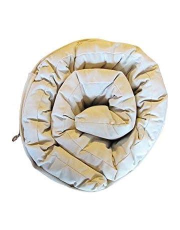 Europe & Nature - Colchón futón para cámping de algodón Blanco - 70 x 190 cm