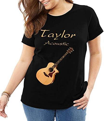 Yangxud Woman`s Taylor Acoustic Guitar Cool Teelarge Size