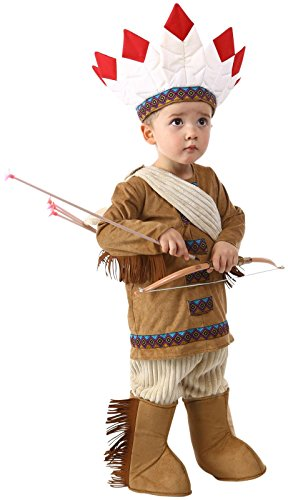 [Princess Paradise Baby Boys Native American, Brown, 12/18 Months] (Toddler Indian Costumes)