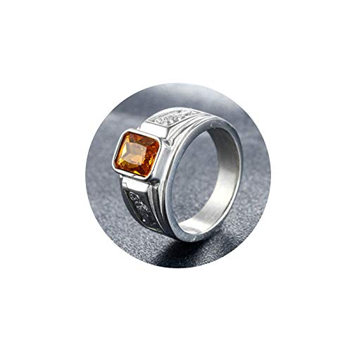 KnSam Mr Wedding Ring Box Men Stainless Steel Copper Coins Silver Champagne Ring Size 11 (Boy Or Girl Wedding Ring On String)