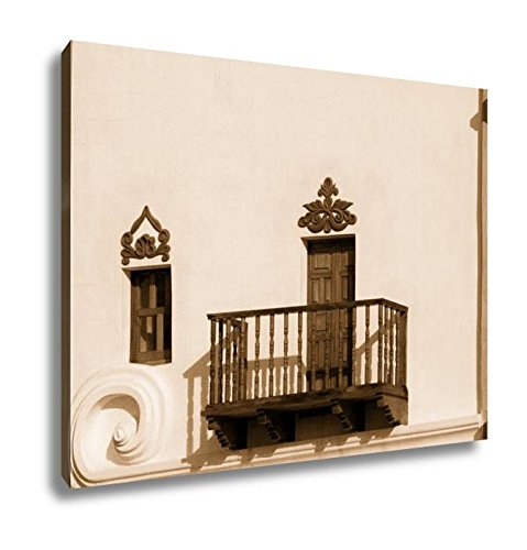 Ashley Canvas The Mission San Xavier Del Bac, Kitchen Bedroom Living Room Art, Sepia 24x30, AG6552160 by Ashley Canvas
