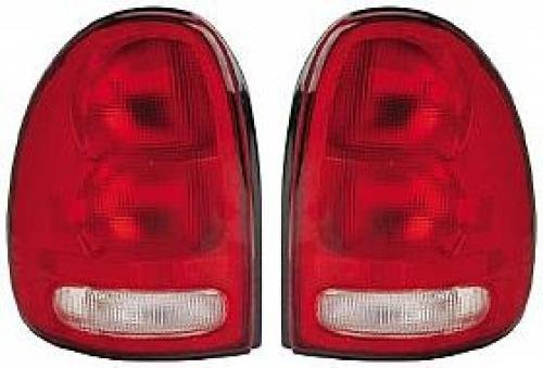 Go-Parts PAIR/SET OE Replacement for 1996-2000 Dodge Caravan Rear Tail Lights Lamps Assemblies/Lens / Cover - Left & Right (Driver & Passenger) for Dodge Caravan