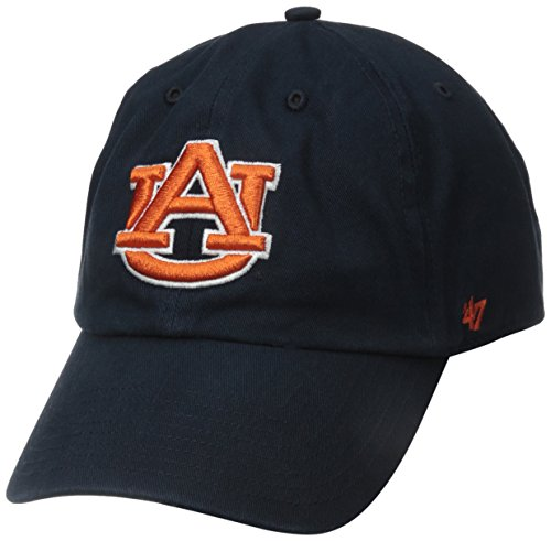 NCAA Auburn Tigers 47 Clean Up Adjustable Hat, Navy, One Size