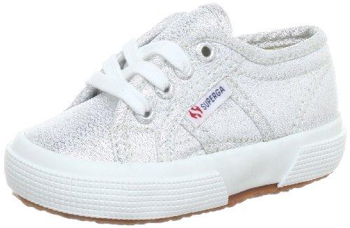 Superga - Zapatillas de deporte de tela para mujer Plateado (Argent - Silber (Silver 031))