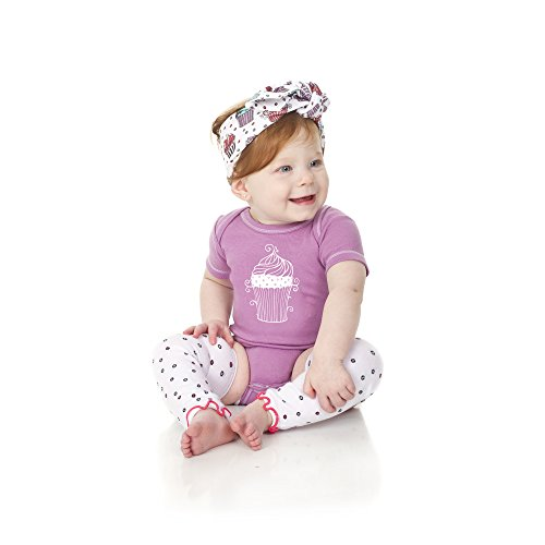 juDanzy 3-Piece Baby Shower Gift Box Set For Girls (0-3 Months, Cute As A Cupcake)