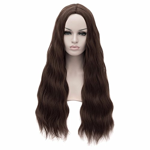 New The Avengers Scarlet Witch Wig Wanda Maximoff Brown Costume Anime Wig]()