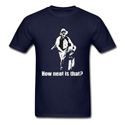 HyGee How Neat Is That Suitable Navy Male Tee Shirt X-Large