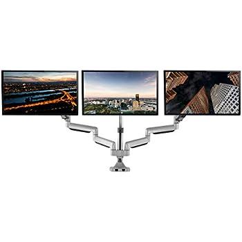 Amazon Com Ezm Deluxe Triple Monitor Mount Stand Desktop