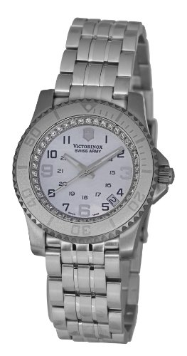 Victorinox-Swiss-Army-Unisex-Quartz-Watch-with-Mother-Of-Pearl-Dial-Analogue-Display-and-Silver-Stainless-Steel-Strap-V251147