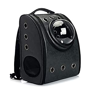 GINYICY Portable Travel Pet Carrier Backpack,Space Capsule Bubble Design,Waterproof Handbag Backpack for Cat and Small Dog,Airline Approved Pet Backpack Carrier