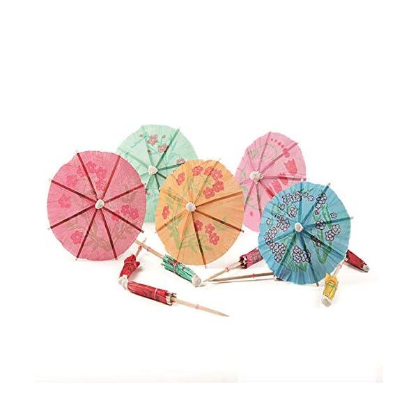 Siumir Ombrelli da Cocktail Mini Cocktail Parasols Accessori Decorazione di Bevande e Frutta 144 pcs 2 spesavip