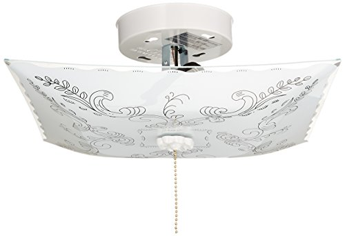 Nuvo SF77/392 Square Floral Design with Pull Chain Switch Close to Ceiling Fixture ()