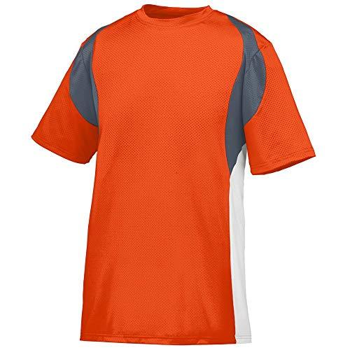 Augusta Sportswear Men's Quasar Jersey 2XL Orange/Graphite/White