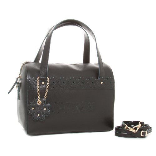 GUESS Henkeltasche City Lace Small Box Satchel Leder Black