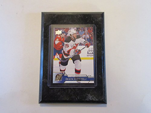 Devante Smith-Pelly New Jersey Devils Upper Deck 2017 player card mounted on a 4