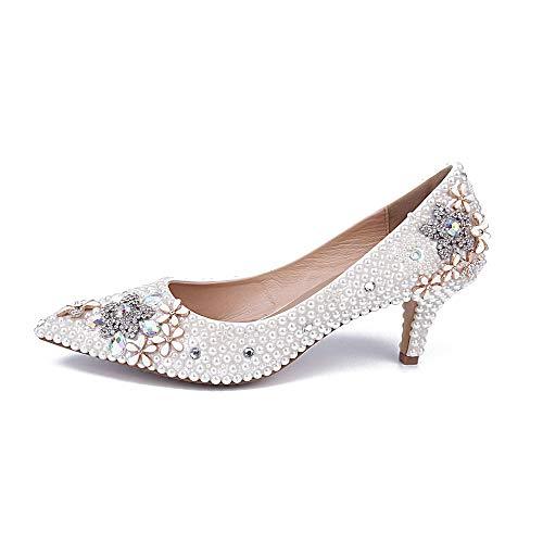 Pointus Pointus White à pour Talons à Chaussures Bouts Femmes Ff8Xq6xfwE