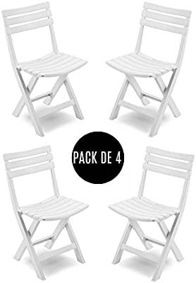 Tued - Pack de 4 sillas plegables para exterior Mada: Amazon ...
