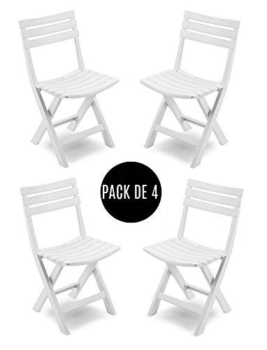 Pack de 4 sillas plegables para exterior desde solo 56€