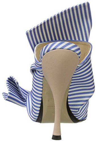 N ° 21 Donne 8254,1 Aperta Sandalo Blu (bianco / Azzurro)
