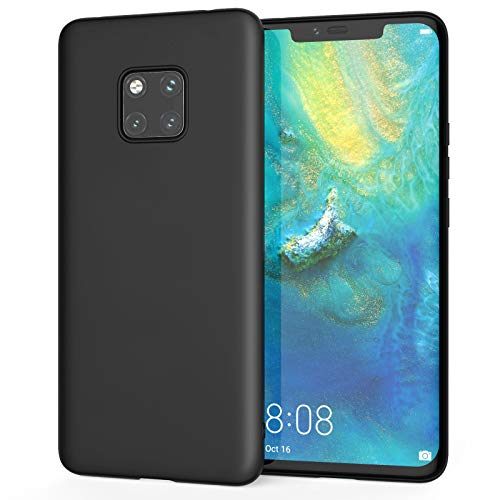 Caseflex Low Profile Case for Huawei Mate 20 Pro, Lightweight Soft Silicone Flexible Protection Huawei Mate 20 Pro Case - Matte Black - CS000102HU