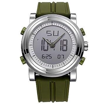 Relojes Hermosos, SINOBI Hombre Reloj Deportivo Reloj digital Cuarzo Digital Resistente al Agua Cronómetro Noctilucente Resistente a los Golpes Silicona ...