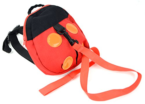Kids Baby Red Black Ladybug Safety Harness Tether Leash Toy Backpack