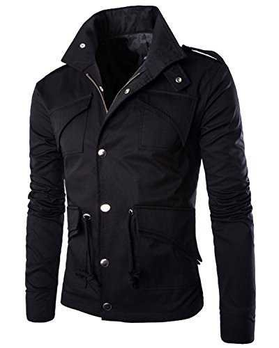 Button Black Jacket - 2