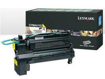 Lexmark X792 Print - C792A1YG Lexmark C792/X792 Yellow Return Program Print Cartridge