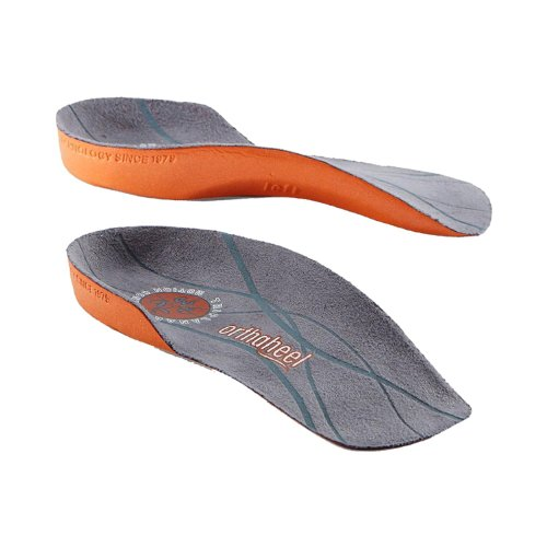 Orthaheel Unisex Relief 3/4 Length Brown/Orange SM (Men's 5.5-7, Women's 6.5-8) One - Hdo Sport Returns