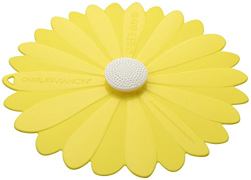 - Charles Viancin Silicone Daisy Yellow Lid - Small 6