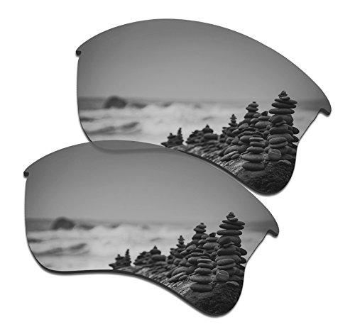 SmartVLT Men's Silver Titanium Replacement Lenses for Oakley Flak Jacket XLJ - Eyes Sunglasses Does Protect Your