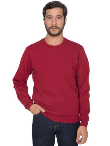 american-apparel-mens-flex-fleece-crew-neck-pullover-drop-shoulder-sweatshirt-cranberry-x-large